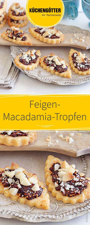 Feigen-Macadamia-Tropfen - Rezepte für ausgefallene Plätzchen zu Weihnachen