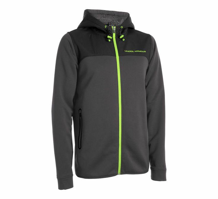 Mens Under Armour Coldgear Infrared Armour Fleece Full Zip Hoody Running Jackets at Road Runner Sports