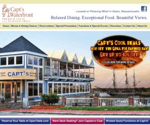 Visit Capt S Waterfront Grill And Pub M Ma Seafood Restaurant Bar Located Along The North
