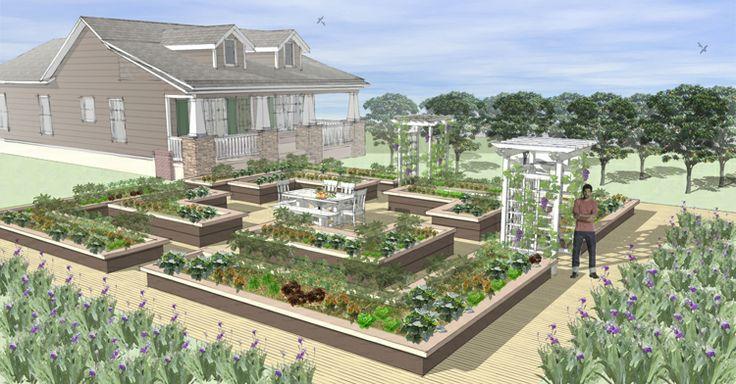 Le Potager Urbain   Farmscape Gardens   potager and backyard ideas ...