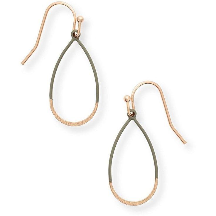 Oliver Bonas Hicks Textured Mini Teardrop Earrings