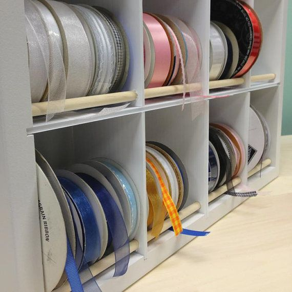 Ribbon Spool Craft Organizer no dowels easy to use by organizemore