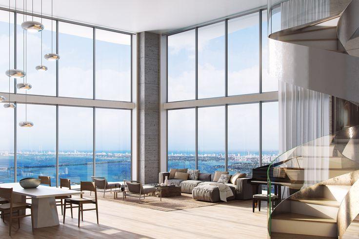 Auberge Residenzen & Spa | In bester Innenstadtlage nur wenige Minuten vom Design District, Midtown und Wynwood entfernt, liegt diese Luxusanlage mit 290 Luxus-Appartements auf 60 Stockwerken.
