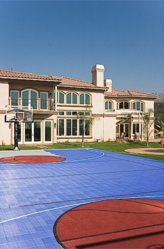 17 best images about sport court backyard courts on for Home sport court