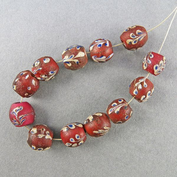 african trade beads venetian glass beads 12 antique beads old beads uk