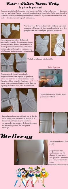 Sailor Moon - tutorial de como hacer el body o enterizo blanco