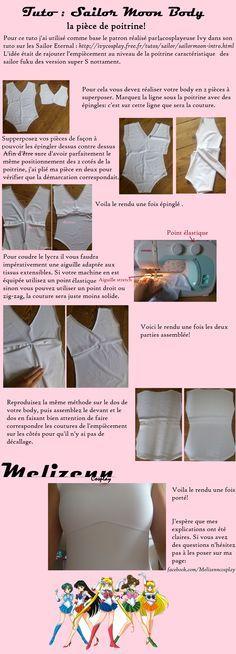Sailor Moon - tutorial de como hacer el body o enterizo blanco