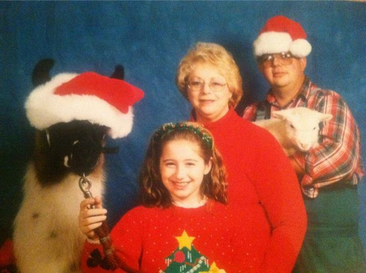 The most awkward family photo.