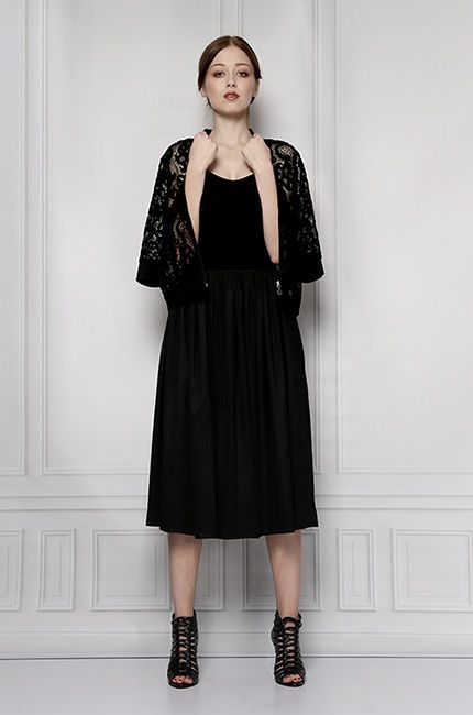 black midi skirt furelle
