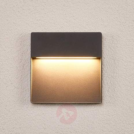 Square Dark Grey LED Outdoor Wall Lamp Karina 9969015 22