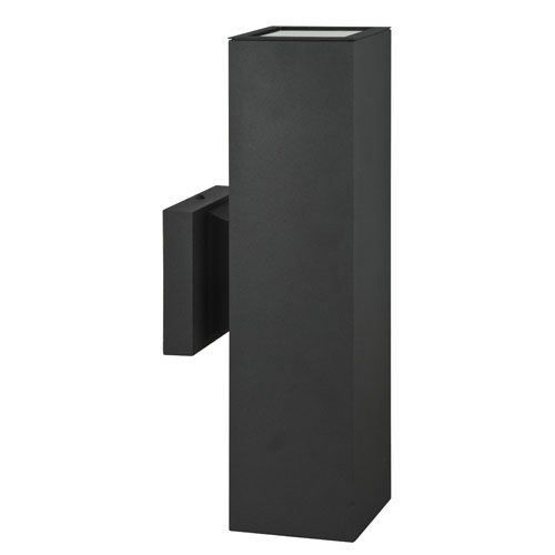 Architectural Outdoor Two Light Black Aluminum Outdoor Wall Sconce Sunset Lighting Wall Mo