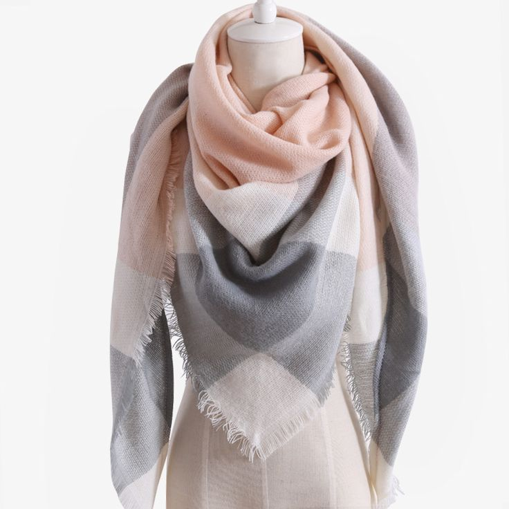 $9.79 - Awesome 2018 New Design Luxury Brand Women Scarf Acrylic100% Plaid Autumn and Winter Lady Triangle Cashmere Shawl - Buy it Now!
