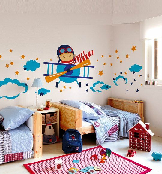 M s de 17 ideas fant sticas sobre murales de dormitorio en for Vinilos para pared bebes
