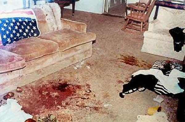 Manson Family Murders: Sharon ... is listed (or ranked) 6 on the list The 15 Most Infamous & Haunting Crime Scene Photographs Ever Taken