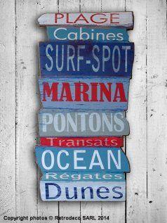 Plaque décorative Marina, déco bord de mer, Sphere Inter