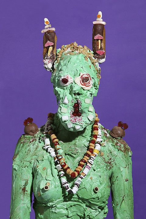 Grotesque Portraits made of Sweets and Junk Food - By James Oster . . . .  . ..  .... .Sources: (James Oster) (junk-culture.com)