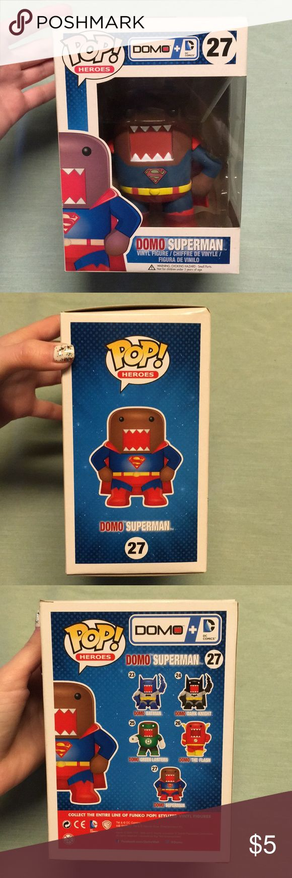 NIB Funko POP DOMO Superman Figure Up for sale is this new in box Funko POP DOMO Superman figure! Never been removed from box. Smoke free home :) Funko POP Other