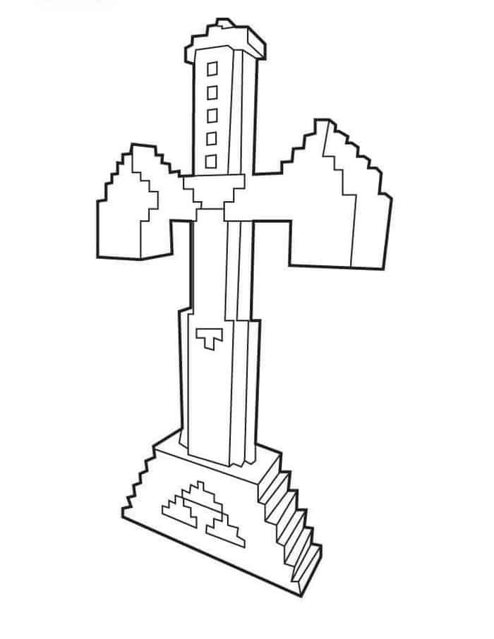 Coloring Pages Minecraft Sword In 2020 Minecraft Coloring Pages Minecraft Sword Coloring Pages