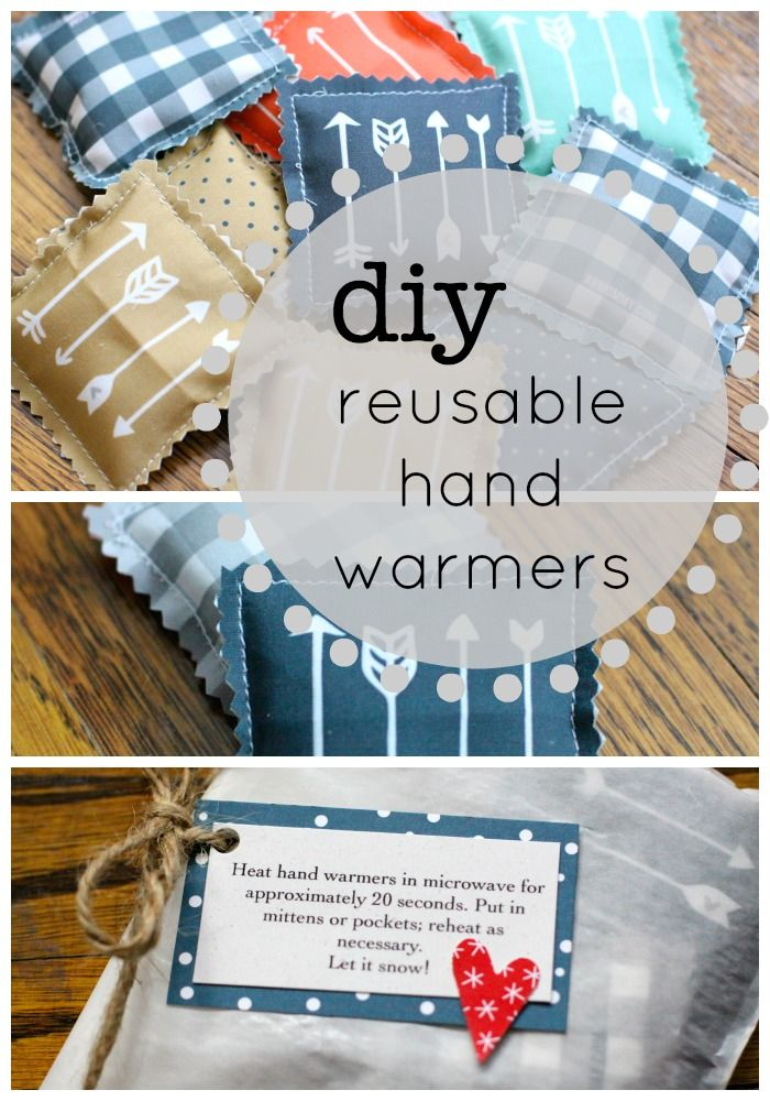 DIY Reusable Hand Warmers | Love of Home. These made great gifts last year! Making another batch!
