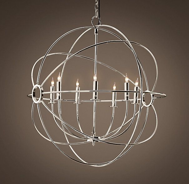 Chrome Orb Chandelier G7 2155 6 Wrought With Wrought