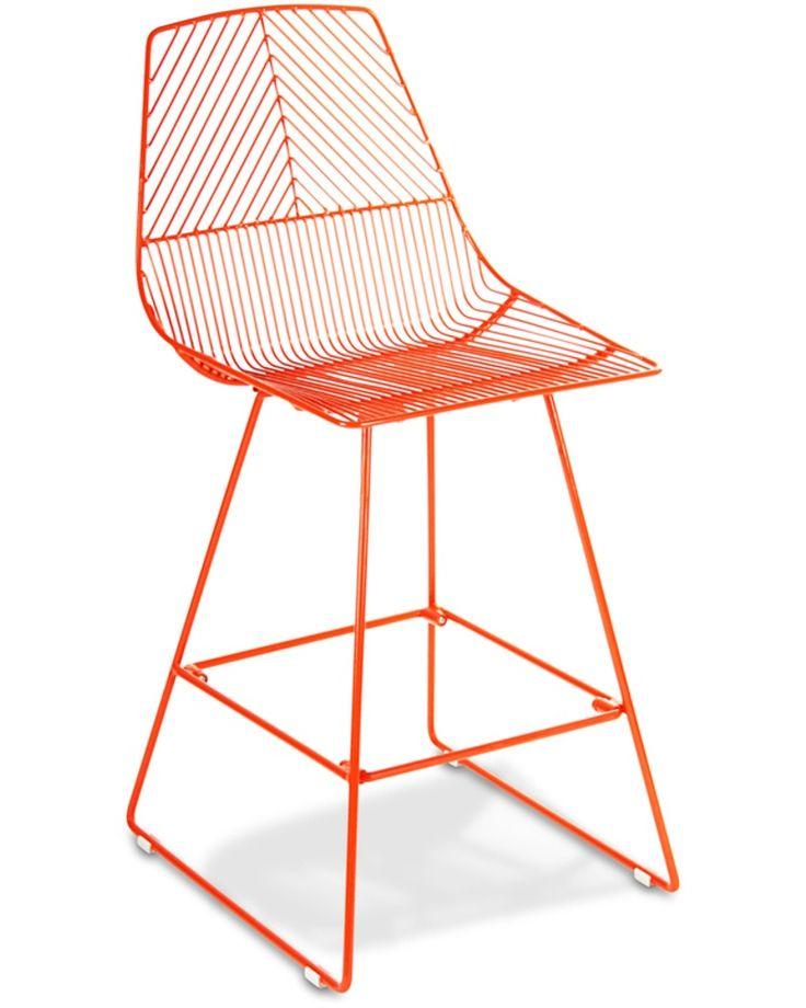 Johnny wire bar stool - orange, 65cm - Cintesi
