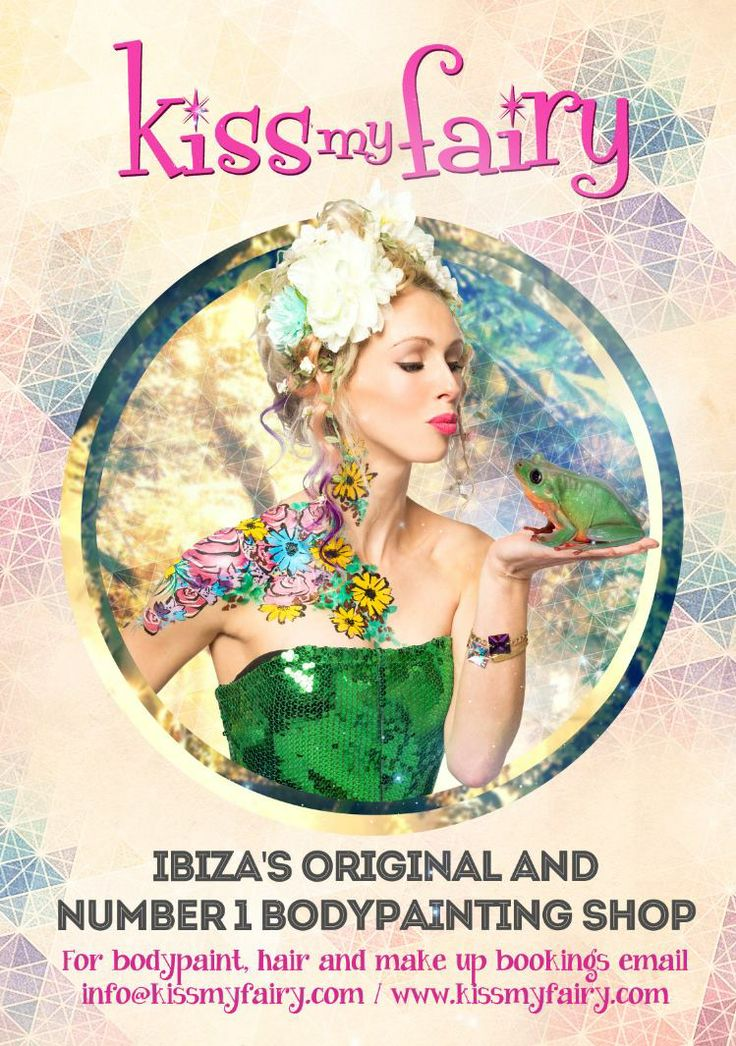 Ibiza Bodypaint, Princess and the Frog  Hair, Make Up and Bodypaint by the Kiss My Fairy team