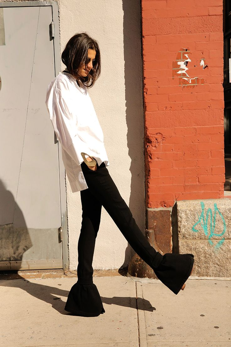 Three Things I Learned from Wearing Boring Ass Black Trousers and White Shirts for a Week - Man Repeller