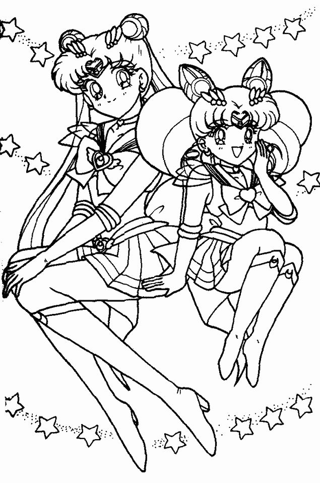 sailor moon coloring page