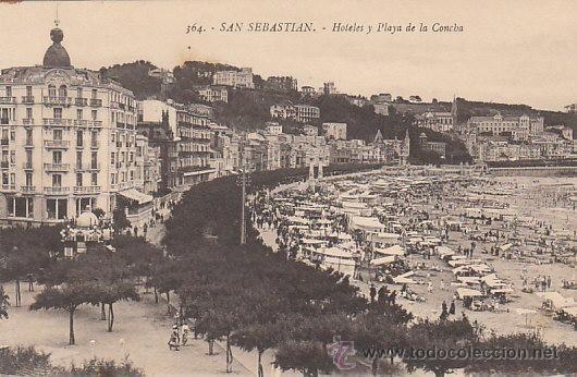 San Sebastián, hoteles y playa de la Concha, editor: Gregorio G. Galarza nº 364 - Foto 1