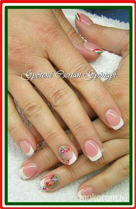 #nail #nails #nailart #beauty #nailsalon #naildesign #nailstyle #style #pinkcadillac #white #french #kalocsa
