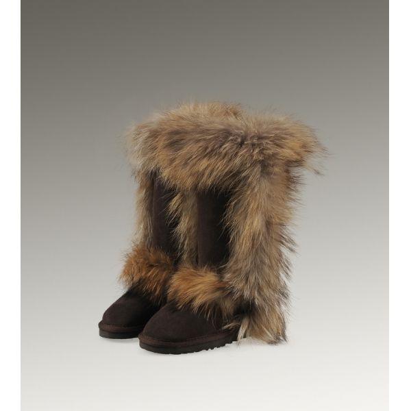 Ugg High Imitation Ugg Fox Fur Tall 5815 Luxury Boots for Clearance Ugg