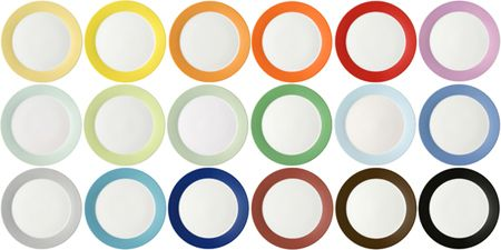 TRIC designer, Michael Sieger, 1997, porcelain. Settings in over a dozen colors.
