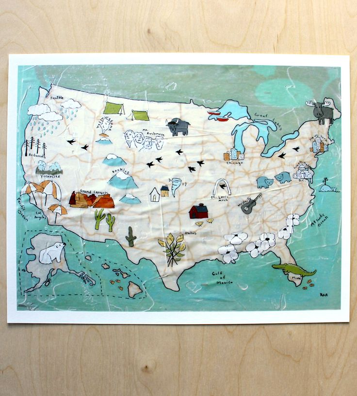 Best Maps Real And Imagined Images On Pinterest Illustrated - Us map canvas wall art