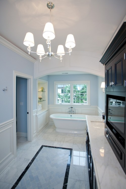 wainscoting backsplash kitchen 1000 images about custom master bath on 3301