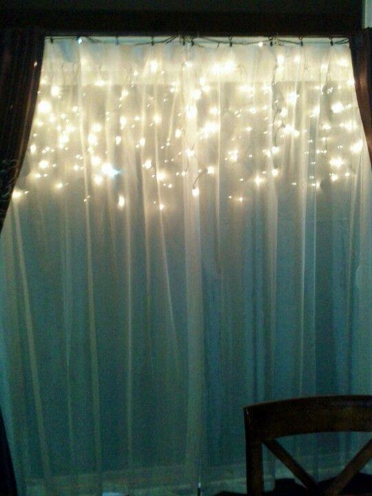 best way to hang lights inside a window - Google Search