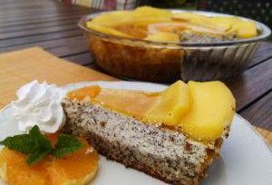 Makový cheesecake s pomerančem