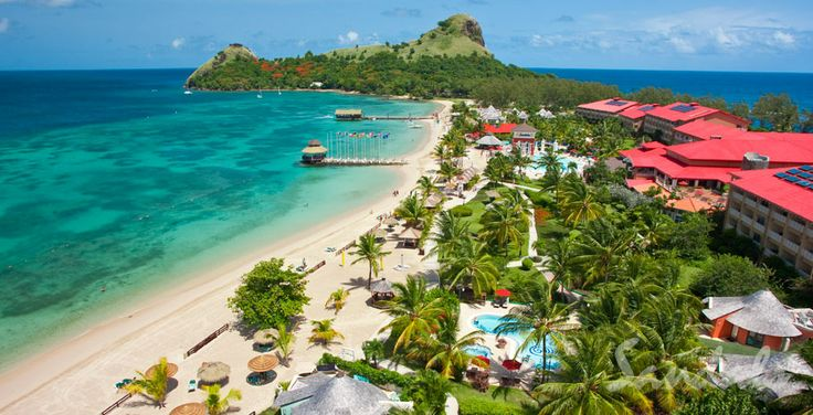 Sandals Grande St. Lucian in St. Lucia - I was married in the lower left corner of this photo!  I love Sandals Grande St. Lucia!!!