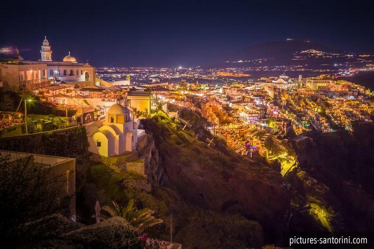 Never get tired of that view: Fira, Santorini at night. #fira #santorini #greece #night