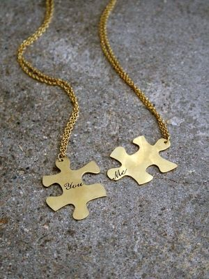 "Cute Idea! ""so happy together"" necklace"
