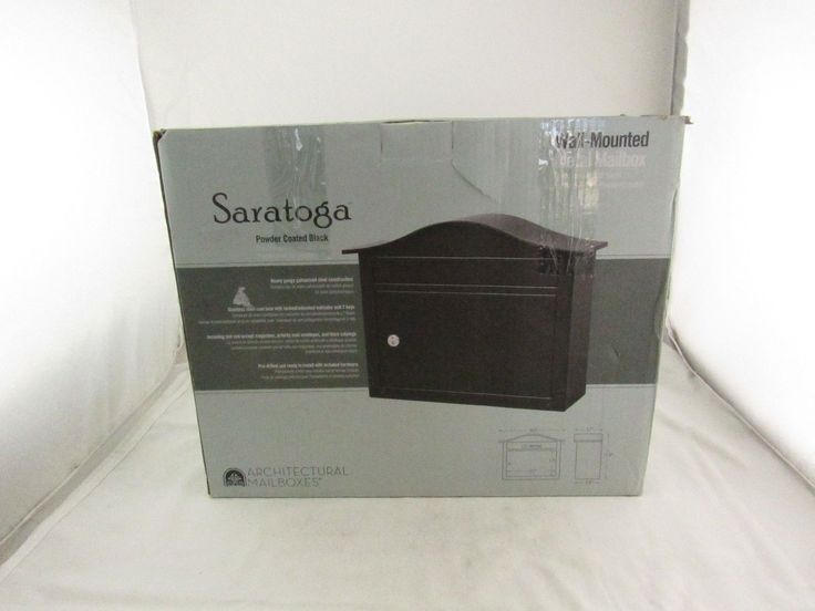 Architectual Mailboxes Saratoga Black Wall-Mount Lockable Mailbox