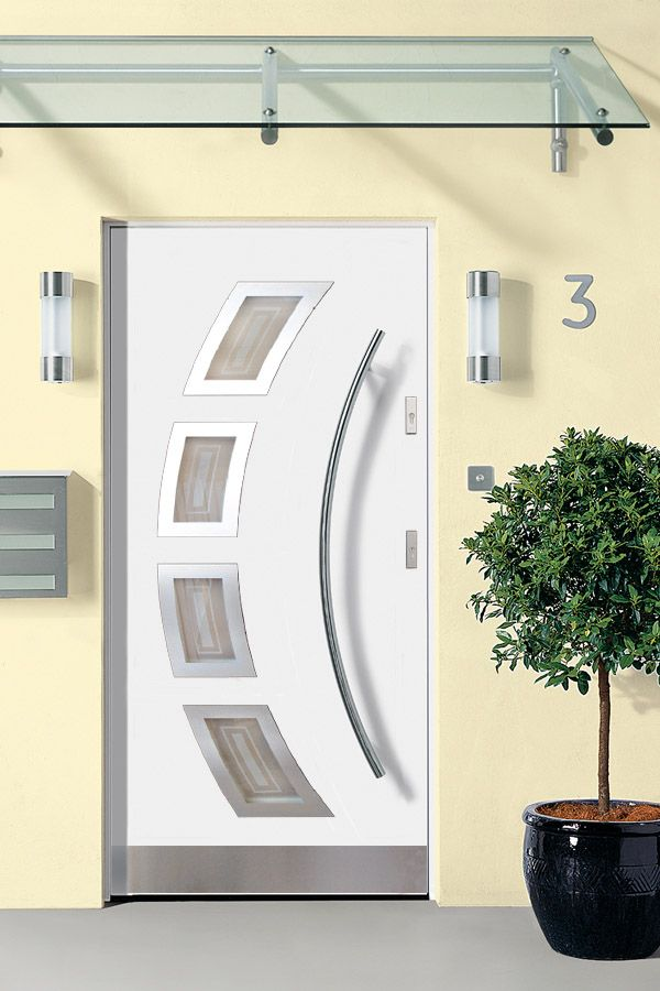 Miami- Stainless Steel Entry Door in White Finish & 18 best Door Manufacturers images on Pinterest | Entrance doors ...