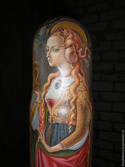 "Футляр для бутылки ""Мария Магдалина"" - штоф,футляр для бутылки,лаковая миниатюра"