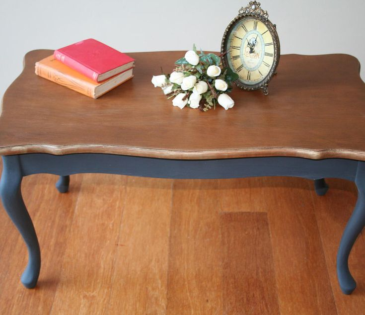 Queen Anne Coffee Table Painted In Graphite ASCP More