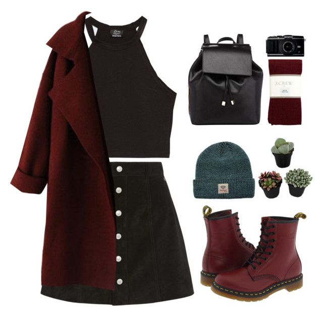 """""""Althea"""" by blood-under-the-skin ❤ liked on Polyvore featuring AG Adriano Goldschmied, Zara, Dr. Martens, J.Crew, Barneys New York and Diamond Supply Co."""