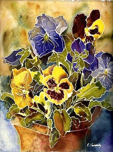 Image detail for -Elaine Tweedy - Canadian Artist - Mom's Pansy PotImage Details, Art Watercolors, Art Inspiration, Art Flowers Fruit, Pansies, Canadian Artists, Elaine Tweedy, Art Painting, Art Batik