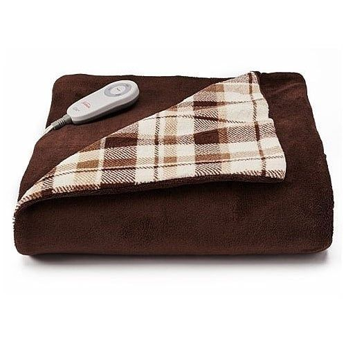 Sunbeam Microplush Comfy Toes Electric Heated Throw Blanket w Foot Pocket. Ssswwweeettt!! For RV living where things need to be durable and have some oomph, this bad boy is my hero over and over.