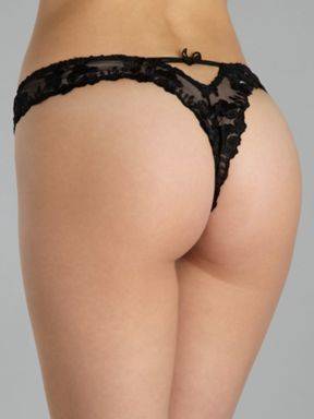 Aubade Fleurs de pommier string Black - House of Fraser