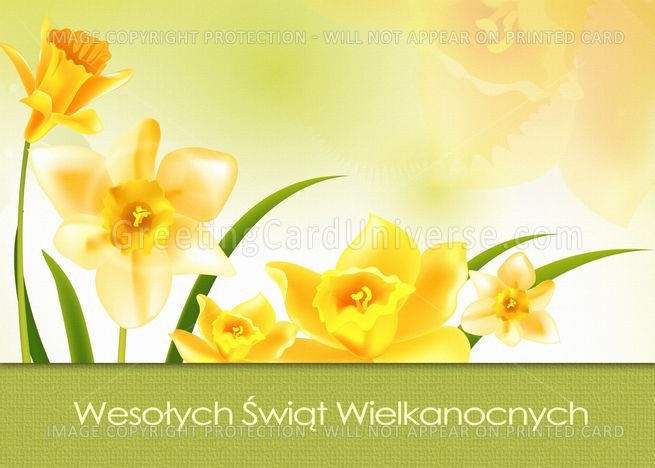 Wesolych Swiat Wielkanocnych Polish Easter Card Ad Affiliate Wielkanocnych Swiat Wesolych Card Flower Cards Easter Wishes Easter Cards