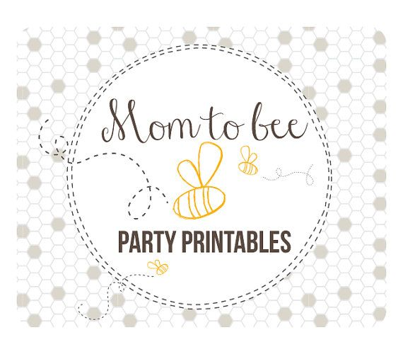 bee baby shower party printables honey bee mom to bee party decorations baby shower. Black Bedroom Furniture Sets. Home Design Ideas
