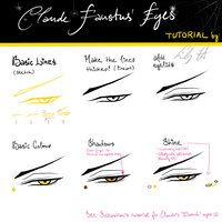 How to draw claude eyes